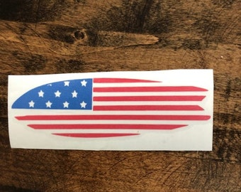miscut Surfboard decal, American Flag decal, surfing decal, Surf decal, birthday gift, gift for her, yeti decal, car decal, Mother's day