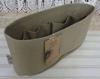 Khaki / Purse ORGANIZER Insert SHAPER / Flexible or Stiff Bottom / STURDY / 5 Sizes Available / Check out my shop for more colors & styles