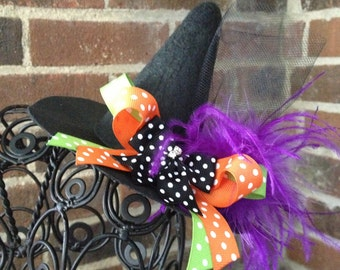 Witch Hat - Playful Witch Hat - Mini Witch Hat - Costume Accessory - READY TO SHIP