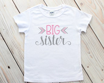 Big Sister Shirt - Big Middle Little - Sibling Shirts - Big Sister Announcement - Big Sister T-Shirt - Sister Gifts - Sibling Outfits