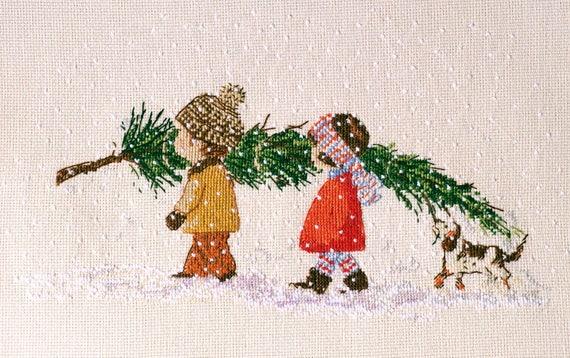 Christmas Tree Cross Stitch Pattern Christmas Pdf Pattern