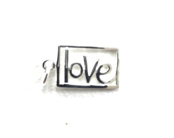 Love Sterling Silver Openwork Word Charm