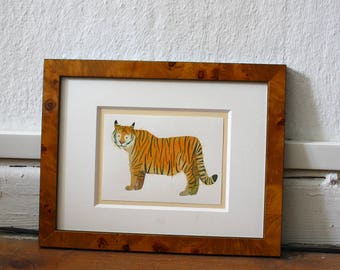 "Original illustration of ""Tiger"" - gouache"