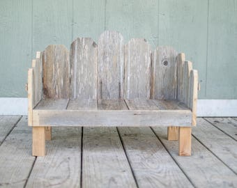 Photography Prop Bed, Newborn, Rustic, Country, Daybed, Bench,