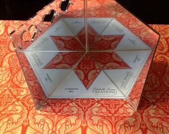 SET of 10 EPP Fussy Cutting Viewers Lilabelle Lane - English Paper Piecing / Hexagon / La Passacaglia / Diamond / 6 point Star / Jewel