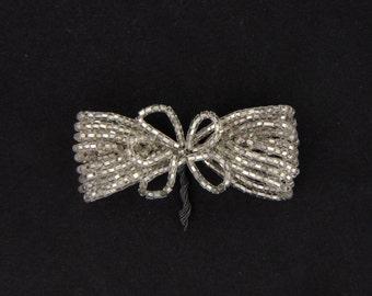 Vintage Italian Seed Bead Bow 1920's 50MM #ETS604