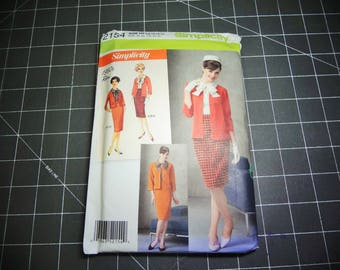 UNCUT Simplicity #2154 Misses' 1960's Retro Jacket, Blouse and Skirt Pattern Size H5 (6-14) 2011