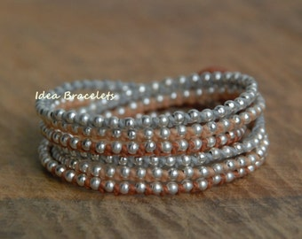 Layers bracelets, Colorful handmade bracelet, Silver jewelry, Gift for Girls