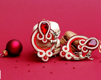 Bambi goes Christmas - Handmade Soutache Earrings