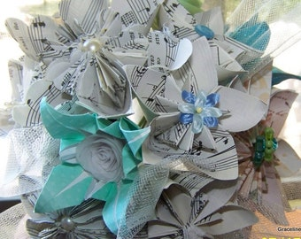 Origami Sheet Music Keepsake Bouquet