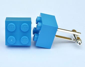 LEGO Brick Cufflinks -Baby Announcement Gift for Dad/Grandad- Baby Blue - Baby Pink