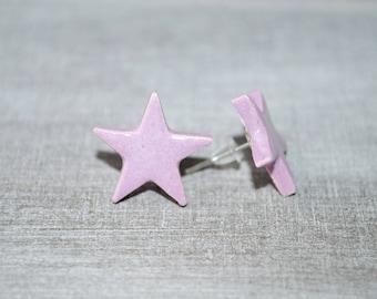 Star Stud Earrings ceramic 1.4 cm