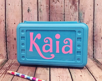 Personalized Pencil Box - Personalized School Box - School Supply Box - Pencil Box - Pencil Case - Plastic Pencil Box - Art Box - School Box
