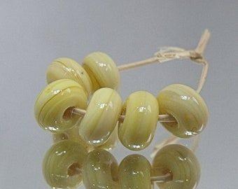 Ripe Banana, Artisan Lampwork Glass Beads, SRA, UK