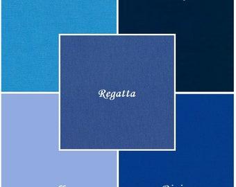 Blues, 5 pc. Kona Cotton Fabric Bundle, Robert Kaufman Fabrics, Choose Your Size
