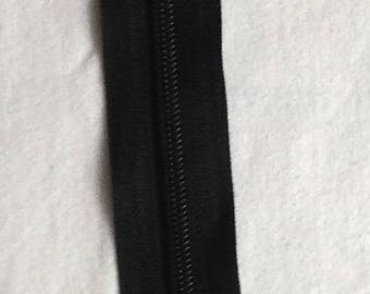 Zipper zip black non detachable 15 cm sewing notions lot of 2 pieces