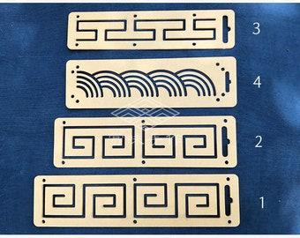 Sashiko Japanese Embroidery Acrylic Stencil, Sashiko stitching