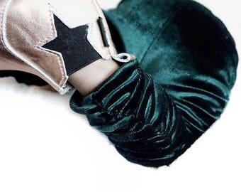 Green Velvet Leggings/ St Patricks Day Outfit/ Green Leggings