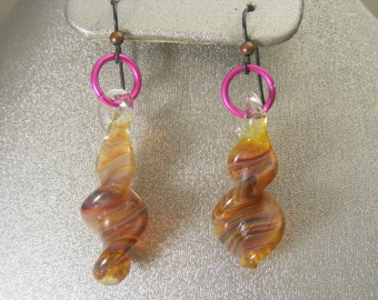 Boro Lampwork Glass Earrings  (ES20)