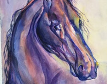 Blue Horse in the Sun