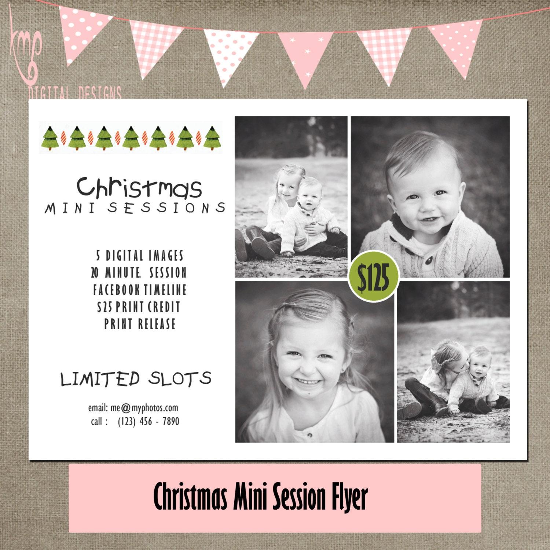 christmas mini session flyer tree garland simple mini marketing ...