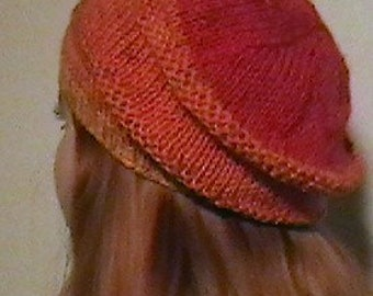 Slouch Beanie with Necktie Scarf