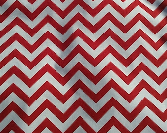 Fabric by the yard, Red chevron fabric, Christmas fabric, red fabric, zigzag fabric, Premier Prints fabric, home decor fabric, chevron