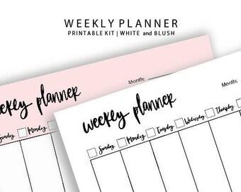 Weekly Planner | Planificador de la Semana de Domingo a Sábado, imprimible planificador semanal, weekly list, planner