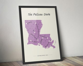 The Pelican State Map