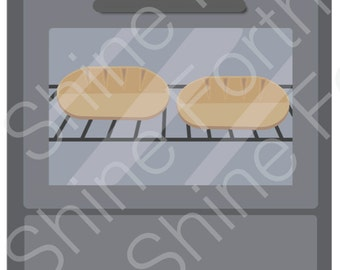 DIGITAL Two Buns in the Oven Iron-on for maternity shirt