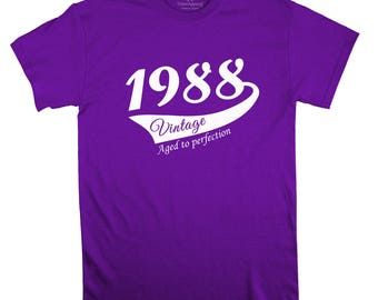 30th birthday idea, 30th birthday shirt, 30th Birthday Gift, 1988 shirt, 30th birthday vintage t shirt, 30th birthday gift for him