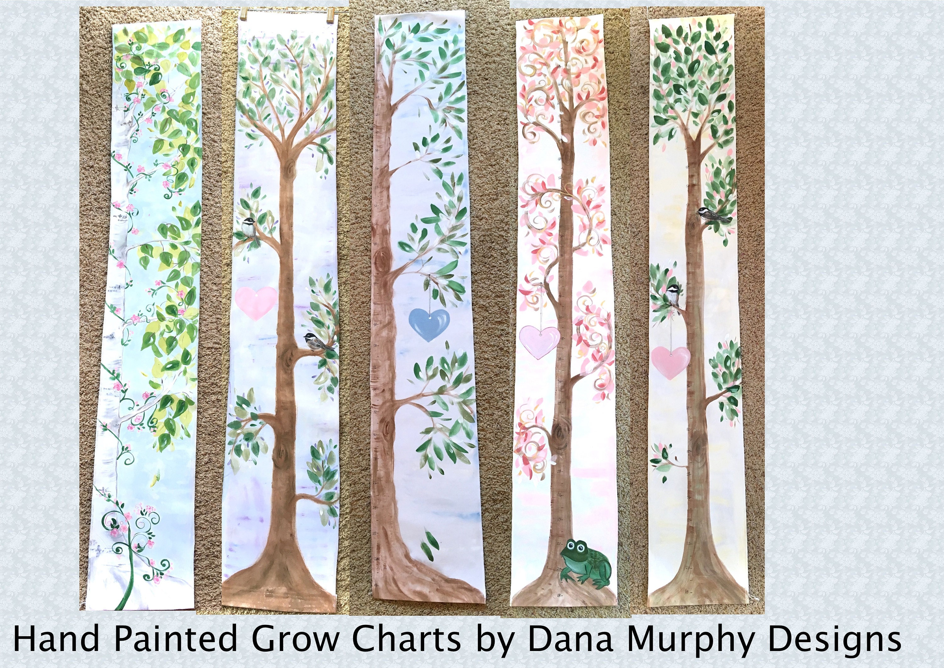 Painted grow chart made to order handpainted childrens description hand painted growth chart nvjuhfo Gallery