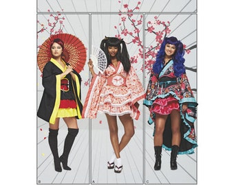 Sewing Pattern for Womens/ Misses' Cosplay Kimono Costumes, Simplicity Pattern 8317, Halloween Costume, Cosplay Costume, Plus Sizes Costume