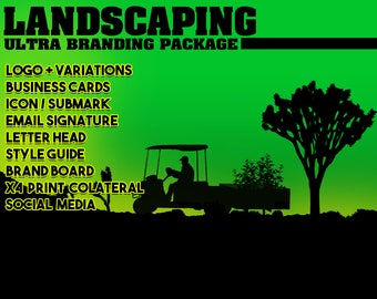 Landscaping Company, Branding Package, Marketing Package, Brand Identity, Business Cards, Branding Kit, Marketing Kit, Brand Package