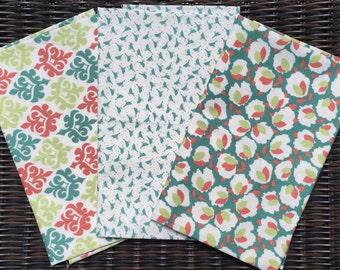 3 FQ set Blossom Urban Chiks moda fabric OOP HTF