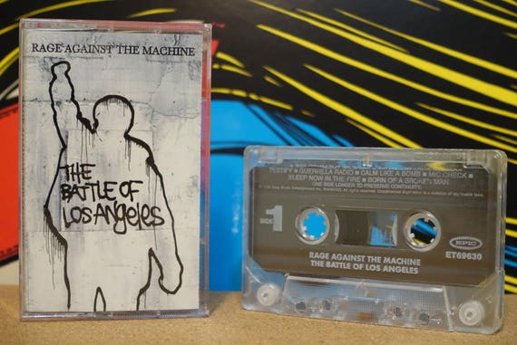 The Battle Of Los Angeles by Rage Against The Machine Vintage Cassette Tape