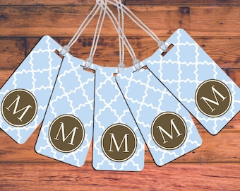 Bag Tag Set - Family 5 Pack Luggage Tags Personalized Custom Monogram Tag Set Travel Accessories Baggage Backpack Create a customized design