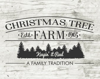 Christmas Tree Farm, Holiday, Christmas Vinyl Stencil, Vinyl Stencil, Stencil, Wood Sign, Wood Crafts, Vinyl, Home Decor, Tree Farm Stencil