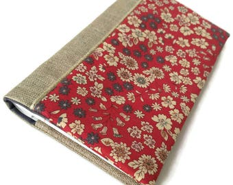Checkbook cover, frou frou cotton fabric, mother's day gift, gift idea