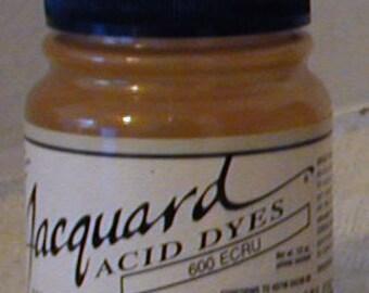 Ecru 600 Jacquard Acid Dye for Wool, Silk, Feathers, Nylon & any protein (animal) fiber. Add vinegar, heat to powder for bright colors.