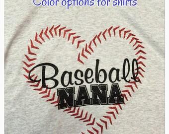 Nana baseball shirt baseball nana shirt new personalized with name and number