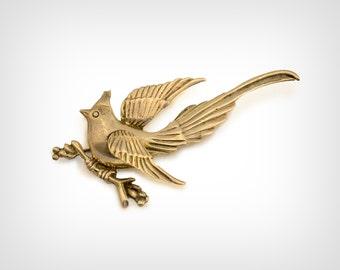 "40s Brooch // 1940's Sterling SIlver ""Prieto Juarez"" Bird Pin"