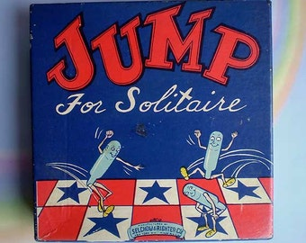 Vintage 40s Jump For Solitaire Board Game