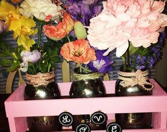Mason Jar Floral Centerpiece