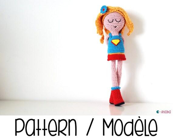 PDF MUSTER: Super NamDoll eine Superhelden-Puppe häkeln
