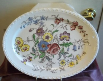 Mayflower Serving Platter By Vernon Kilns