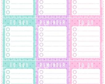 Polka Dot Lists Planner Stickers for Erin Condren Vertical (#30)
