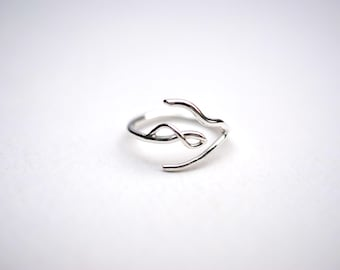 Infinity Silver Roots Ring