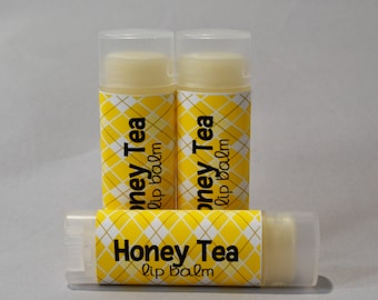 Honey Tea - Sweetened Lip Balm - Honey Lip Balm - Tea Lip Butter