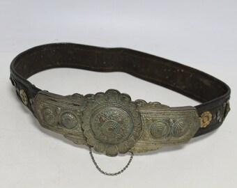 Old beautiful handmade silver buckles